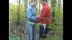Sexo no mato com a namorada pervertida